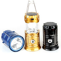 Camping Solar Power Portable Lantern Rechargeable Night Light Hiking Lamp Torch