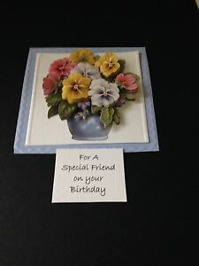 BIRTHDAY STUNNING 3D FLORAL CARD TOPPER