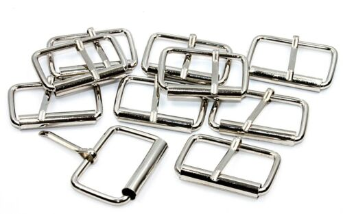 acero niquelado 10x roll hebillas-cinturón hebillas 30mm