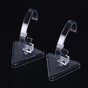 1pc clear plastic wrist watch display rack holder sale show case stand toolsSC