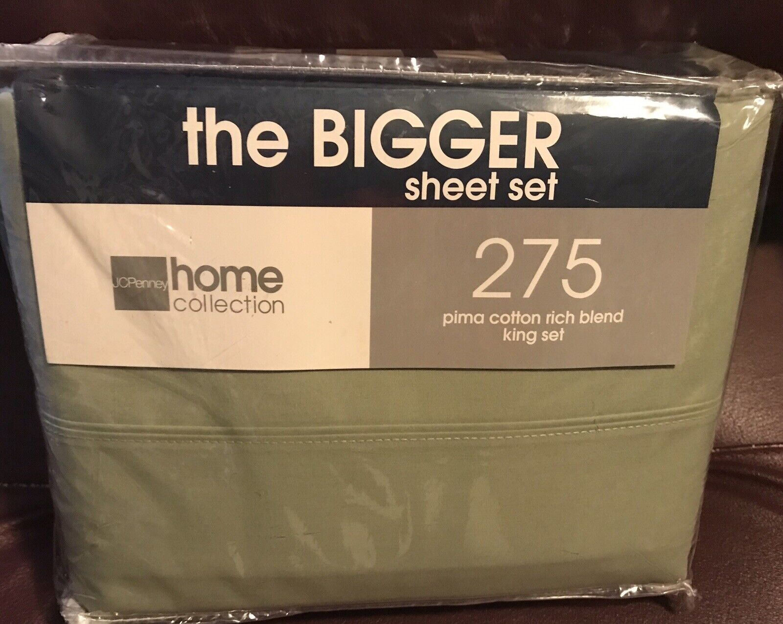 J.C. Penney Home Collection King Sheet Sets with 4 Pillowcases NIP