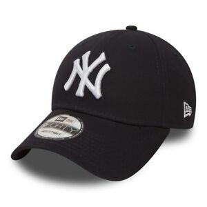 Cappellino-Visiera-Curva-New-Era-NewYork-Yankees-Blu-Navy-Uomo-Donna-Unisex