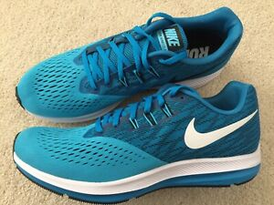 tubo suave flauta  New Nike Zoom Winflo 4 Men's Size 11.5 Running Shoes Cushlon ST Blue/White  RARE | eBay