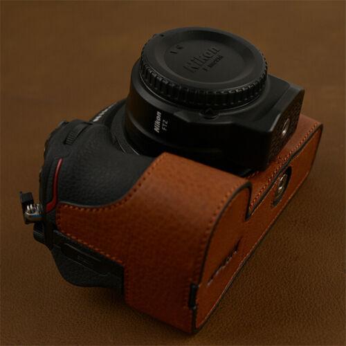 Handmade Insert Nikon Z6 Z7 Camera Half Case Retro Style Cover Genuine Leather