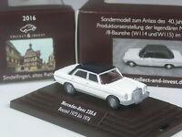 Wiking C&I Sondermodell Mercedes 230.6 /8 zweifarbig weiß-schwarz in PC-Box