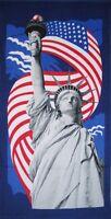Usa Statue Of Liberty American Flag Souvenir Gift Cotton Beach Towel 30x60