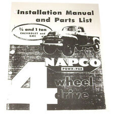 1954 1955 NAPCO Installation Manual & Parts List For 3/4, 1 ton Chevy GMC Truck