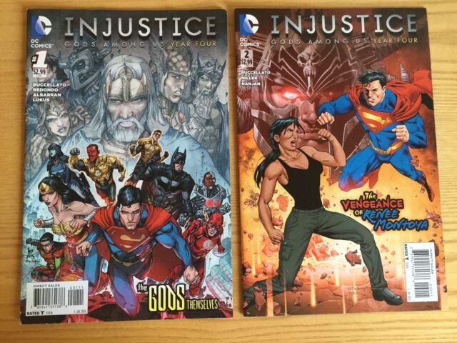 LOT DE 2 COMICS DE INJUSTICE YEAR FOUR Batman Superman Wonder Woman