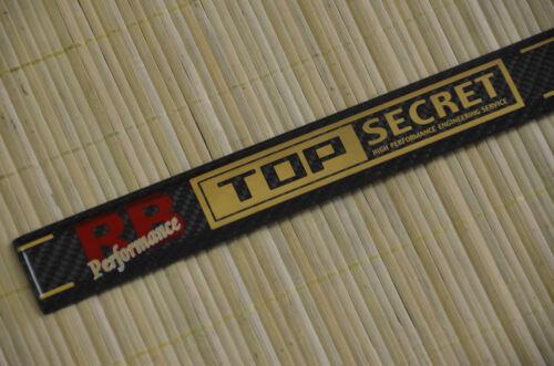 Top Secret Carbon Fibre Cam Cover Emblem BNR34 GT-R BCNR33 RB26DETT BNR32