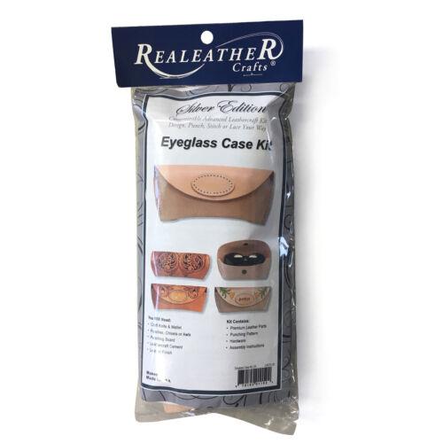 Realeather Silver Edition Leather Eye Glass Case Kit Vegtan Leathercraft Kit