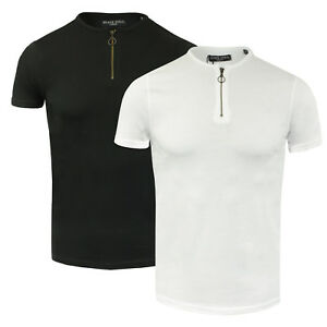 751e1a9b6 Mens Brave Soul Cotton Crew Neck Half Zip Detailed T-Shirt NEW SS18 ...