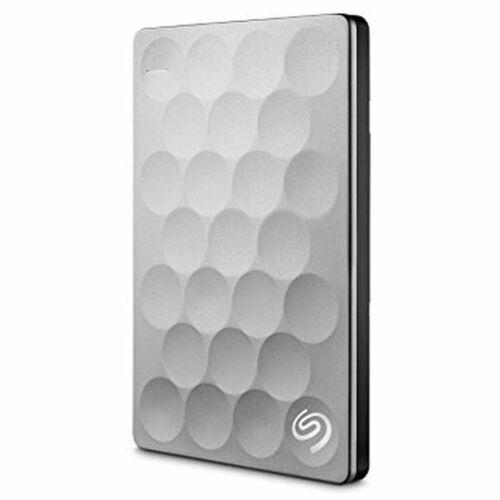 Seagate Backup Plus Ultra Slim 1TB USB 3.0 Portable External Hard Drive Platinum