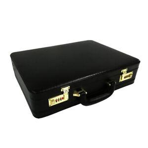 Cuir-Veritable-Attache-Business-Sac-a-main-en-cuir-serviette-1-in-environ-2-54-cm-Extensible-Sac