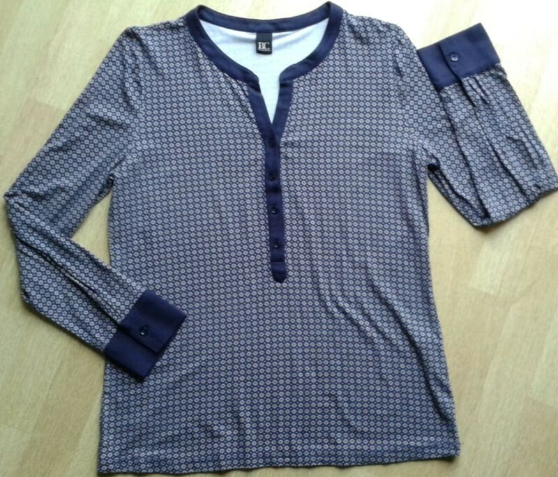*dunkelblau/weiss/rotes Longshirt/business*gr.42*b.c.*best Connections*top*