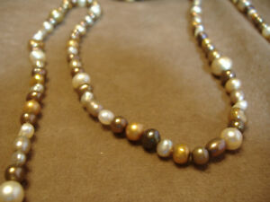 HONORA-PEARLS-EARTH-TONES-72-034-FRESHWATER-STRAND-BROWN-amp-CREAM-STERLING-SILVER