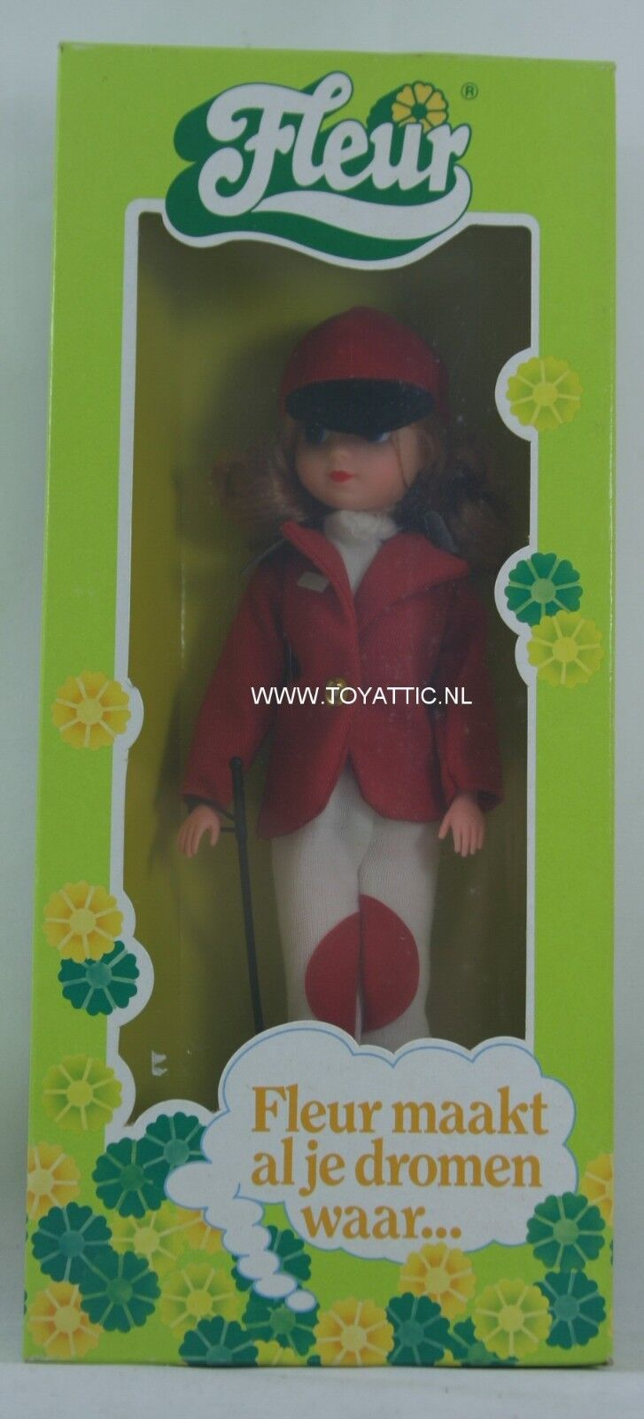Fleur ( dutch Sindy ) doll Amazone horse riding with brunette hair NRFB