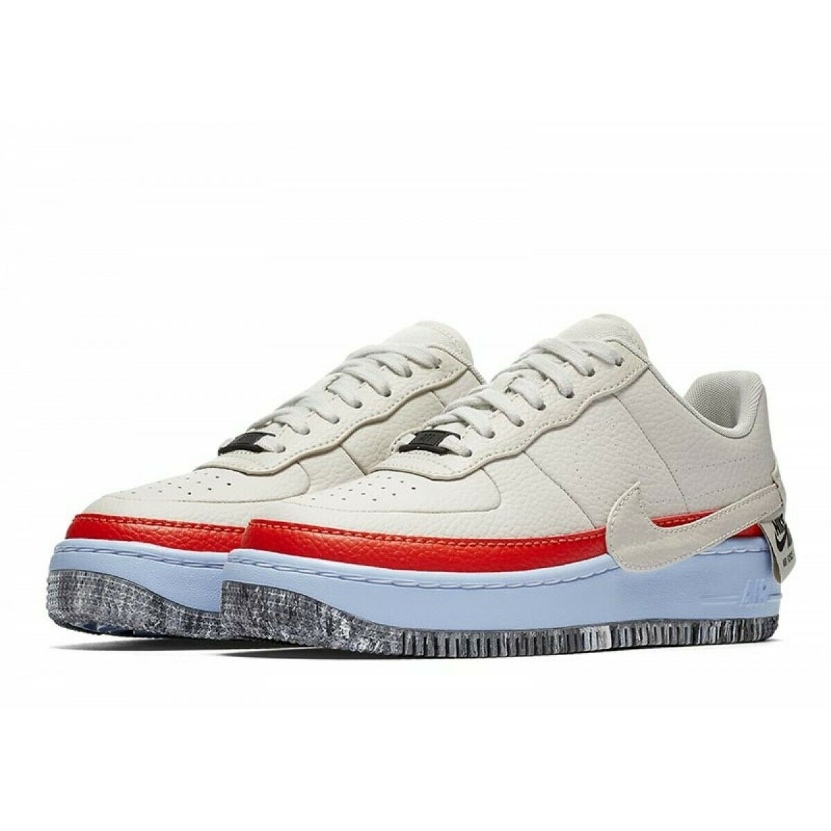 Détails sur WOMENS NIKE AIR FORCE 1 JESTER XX SE UK 2.5US 5EUR 35.5 BONEORANGEBLUE