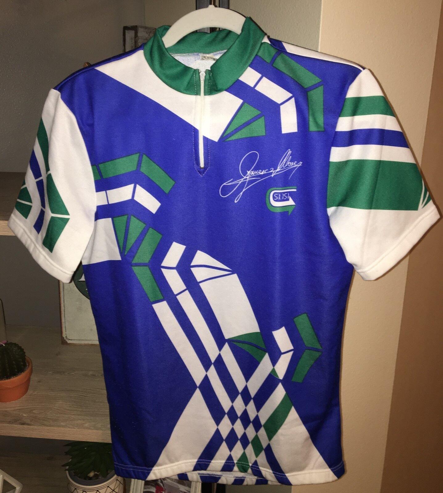 Francesco Moser 51.151 Vintage 80s Cycling Jersey Medium Large bluee Green