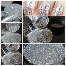Silver Holographic True Ultra Fine Nail Glitter Art Dust Powder DIY Polish DIY