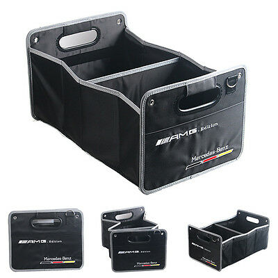 Car trunk Organizer Folding Fold Collapsible Storage Bag Box Fit For Benz AMG