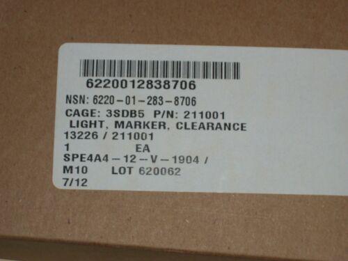 Betts Tanker Clearance Marker Side Lamp Aluminum NSN 6220012838706 211001 New
