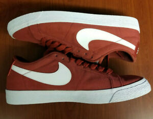 the latest 4d643 b455b Details about Nike SB Air Zoom Blazer Low Canvas Maroon Shoes size 12