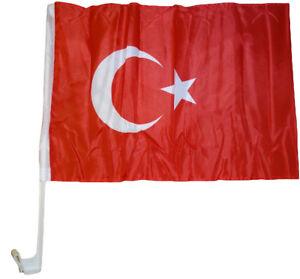 Autoflagge Türkei 30 x 40 cm Autofahne Fenster Flagge Fahne Autofahne  Fan