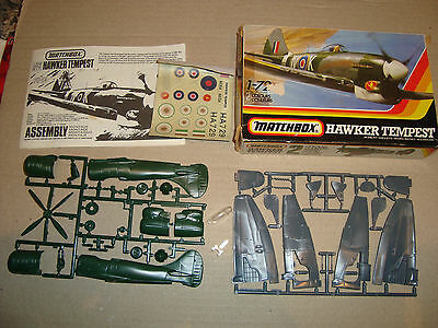 MATCHBOX 1/72 SCALE PK-23 HAWKER TEMPEST MADE IN ENGLAND 1983