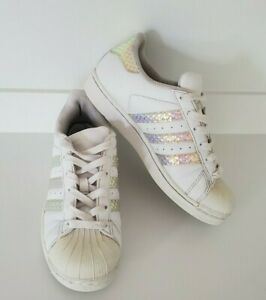 Mac J Rose White Multi Hologram Glitter Platform Sneakers Size 6-10