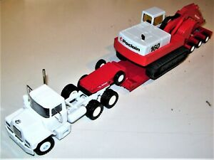Conrad-Mack-Tractor-w-Talbert-Trailer-amp-Poclain-160-Excavator-1-50-Excellent-LN