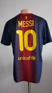 a5297f9d6fd Football shirt soccer FC Barcelona Home 2012/2013 Nike jersey Messi ...
