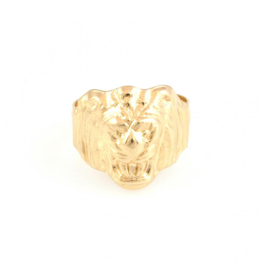 ANNEAU men TÊTE DE LION EN OR yellow 18 KT 4.9 grammes