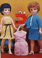 """Vintage Knitting Pattern 16"""" & 20"""" Teenage Dolls Clothes D.K. And 4 Ply E8156"""