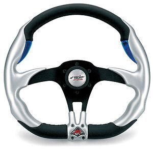 Volante-Auto-sportivo-Allu-Look-Pelle-Nero-Simoni-Racing-Fiat-500-126-Epoca