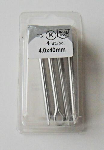 Splint Nr 4 Splinte Sicherungssplint 996239//943 w1 4,0x40 mm verzinkt