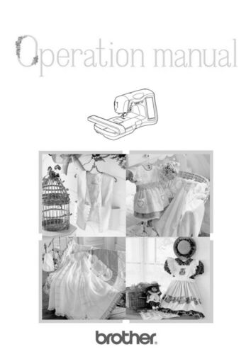 Brother ULT2001 2001N 2001C 2002D 2003D Sewing Embroidery Manual Reprint