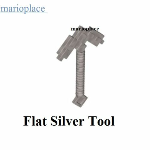 Lego Minecraft x1 Flat Silver Pickaxe Steve Game Weapon Tool Minifigure NEW
