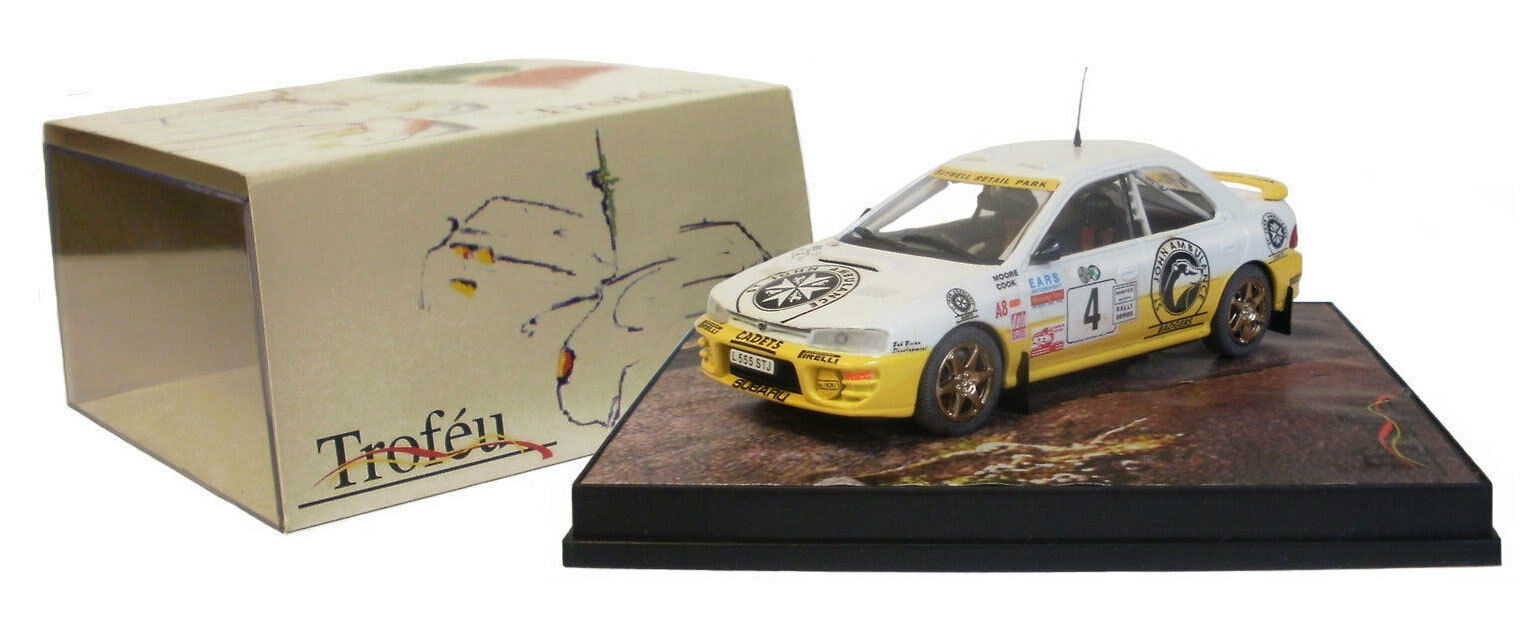 Trofeu 618 SUBARU IMPREZA vincitore Manx Rally 1995-Moore scala 1 43