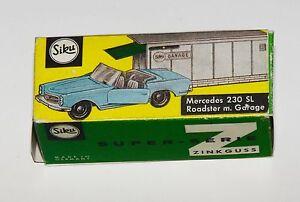 Reprobox-siku-V-229-Mercedes-230-SL-Roadster-con-garaje