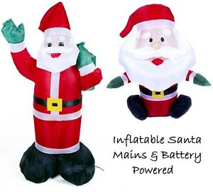 inflatable blow up santa father christmas decoration for