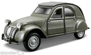Citroen-2CV-Vitrine-Bburago-Street-Classics-Modell-1-32