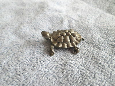 VINTAGE PEWTER MINIATURE TURTLE - WILSON USA - HUDSON PEWTER