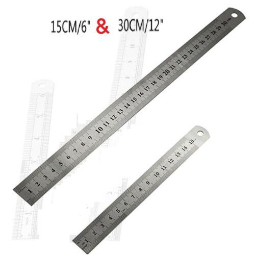 Imperial Metric Durable Ruler Metal Stainless Steel,Rule Measure Engineer