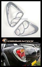 2005-2009 Mitsubishi L200/ Triton CHROME Tail Rear Light Surround Cover WARRIOR