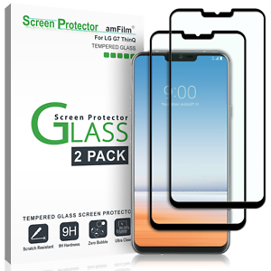 LG-G7-ThinQ-amFilm-Full-Cover-Tempered-Glass-Screen-Protector-2-Pack-Black