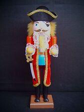 Nußknacker Nussknacker Nutcracker Pirat 38  cm groß farbig mit Säbel 30145