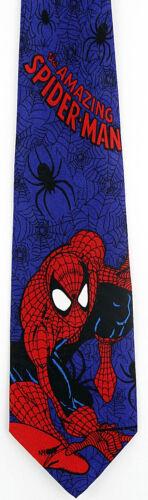 The Amazing Spiderman Mens Neck Tie Marvel Comics Movie Superhero Blue Necktie