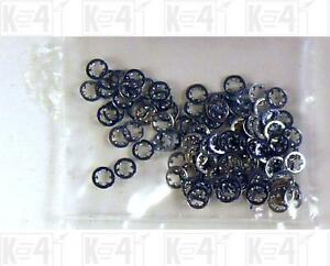 Miniature-Hardware-Parts-Pack-of-100-Small-2-Tooth-Lock-Washers-2-56-Size