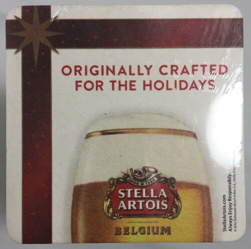 "125 STELLA ARTOIS Beer Coasters ""Originally Crafted For The Holidays"" Christmas"