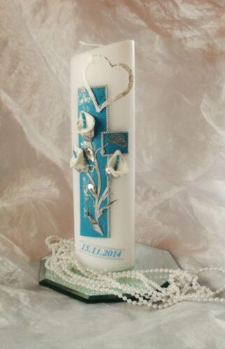 Traukerze mit 3D Callas Hochzeit Hochzeitsgeschenk Hochzeitskerze